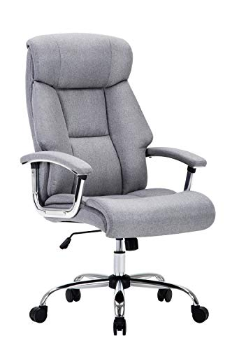Amoiu Heavy Duty Office Chair, High Back Ergonomic Faux Leather