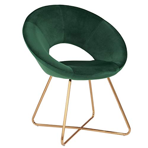 Duhome Dining Chair Fabric (Velvet) Green Chair