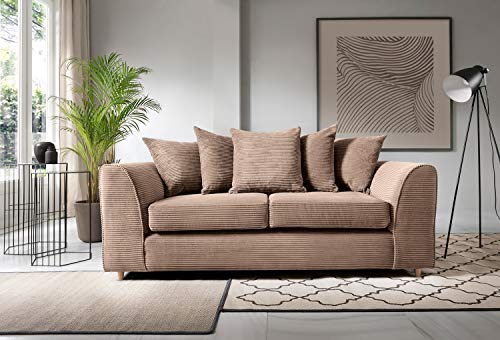 Abakus Direct Jumbo Cord Corner Sofa