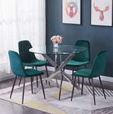 AINPECCA Set of 4 Velvet Dining Chairs