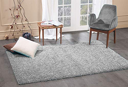 FunkyBuys® Shaggy Rug Plain 5cm Thick Soft Pile