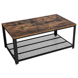 VASAGLE Coffee Table Rustic Brown
