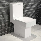 Belfort Close Coupled Toilet & Cistern inc Soft Close Seat