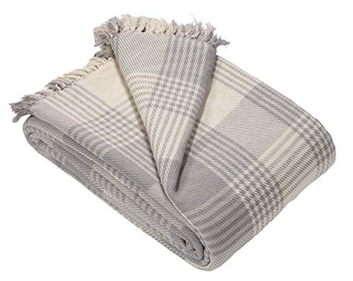 EHC Premium Reversible 100% Cotton Large 150 x 200cm Tartan Throw