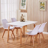 GOLDFAN Soft Padded Seat Dining Chairs Set of 4