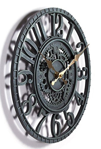 Blue Slate Effect Open Face 30cm Clock