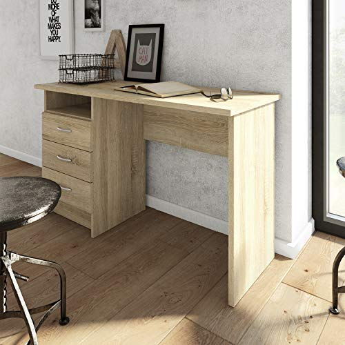 Furniture To Go Function Plus Desk 3 Drawers in Oak