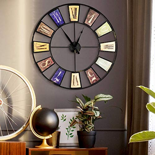 Oversized 25 inch Wall Clock Vintage