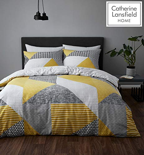 Catherine Lansfield Larsson Geo Easy Care Double Duvet Set