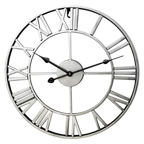 60cm Large Retro Metal Roman Numeral Wall Clock