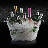 BarCraft Large Drinks Cooler/Beer Bucket, Acrylic, Transparent, 10 Litre