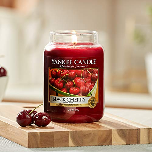 Yankee Candle Large Jar Scented Candle, Black Cherry