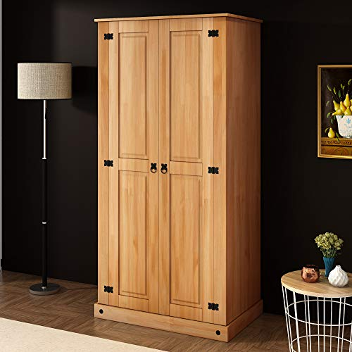 Modern Corona 2 Door Wardrobe with Hanging Rail