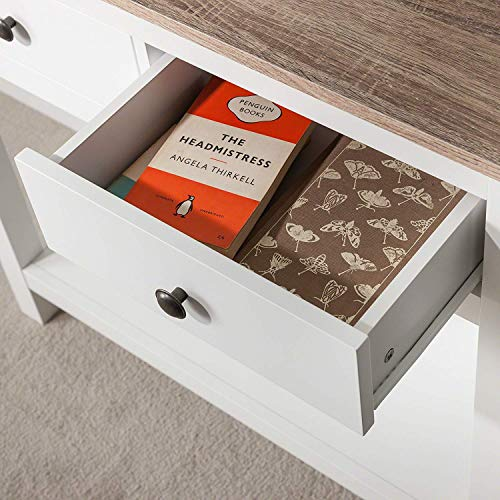Laura James White Console Table | 3 Drawers | with shelf