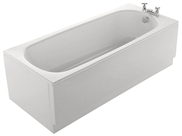 Cooke & Lewis Conway Steel Rectangular Straight Bath