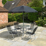Kingfisher FS6PB Promotional Garden Furniture Set (6 Pieces)