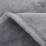 Bedsure Flannel Fleece Throw Blankets Silver Grey Travel Size