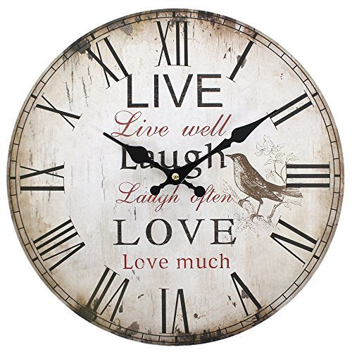Something Different Wholesale 34 cm Live, Laugh, Love Clock