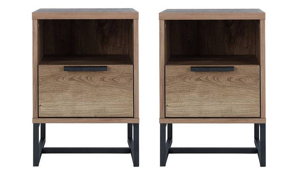 Nomad 2 Bedside Tables Set - Oak Effect
