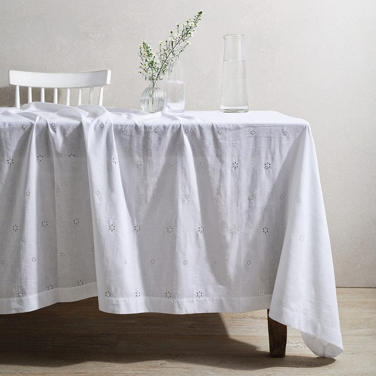 Broderie Anglaise Tablecloth