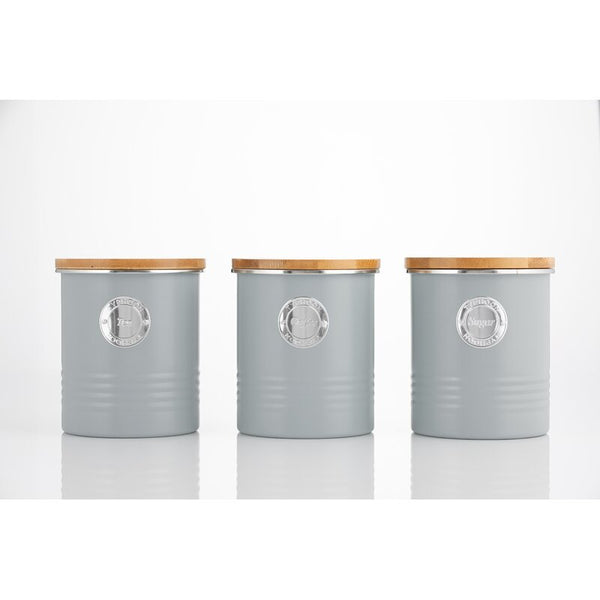 Living 3 Piece Coffee, Tea & Sugar Jar Set