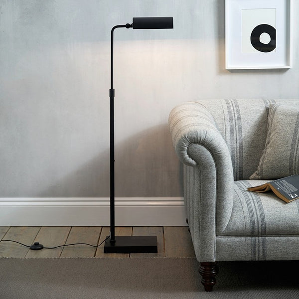 Black Floor Standing Reading Lamp