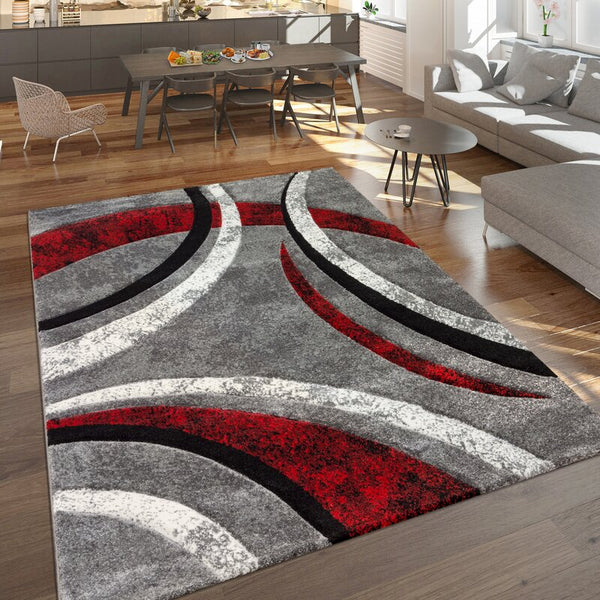Hailee Grey/Red Rug