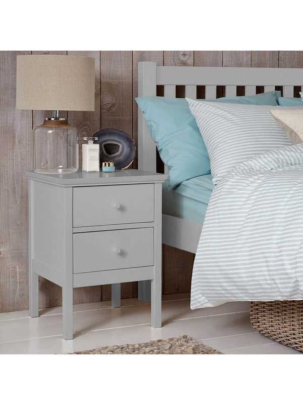 John Lewis & Partners Wilton 2 Drawer Bedside Cabinet, Grey