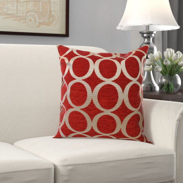 Circle Jacquard Pattern Scatter Cushion