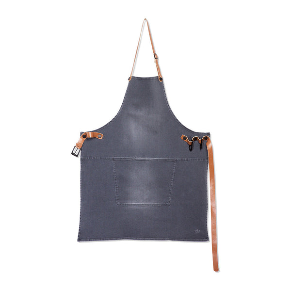 DutchDeluxes BBQ Style Denim Apron - Washed Grey