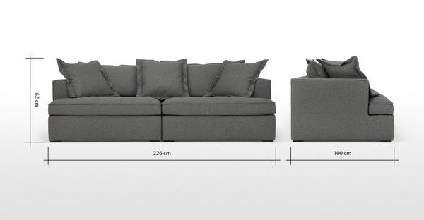 Elmer 3 Seater Sofa, Coventry Grey