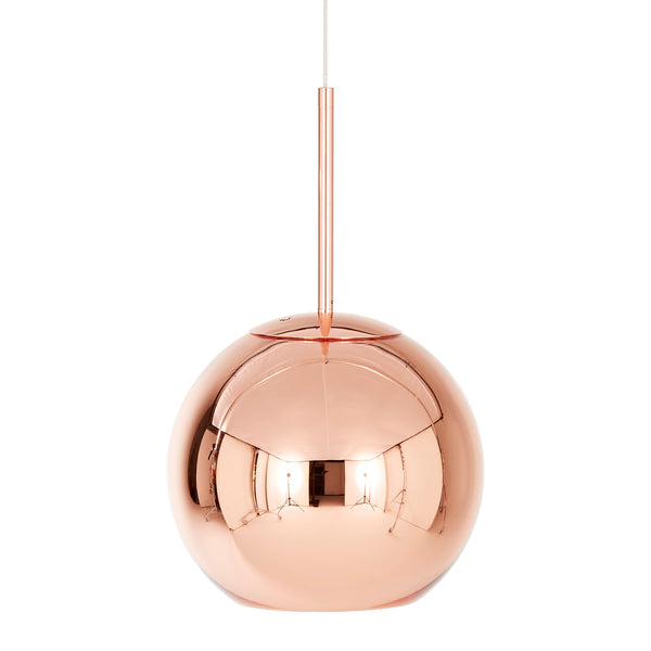 Tom Dixon Copper Round Pendant Light - 25cm