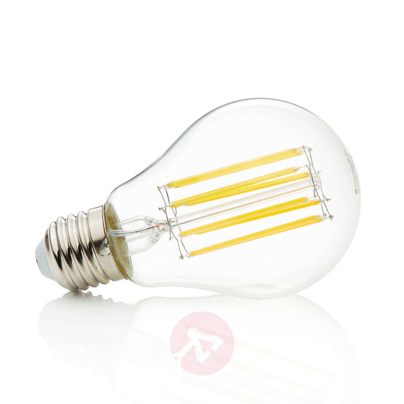 E27 LED filament bulb 11W, 1,521 lm, 2,700K, clear