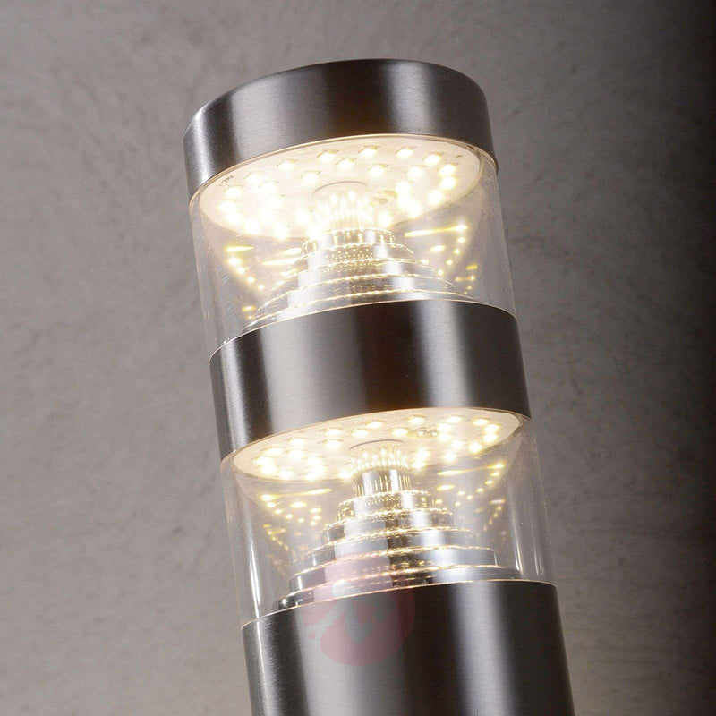 Lanea stainless steel pillar light with LEDs 40 cm