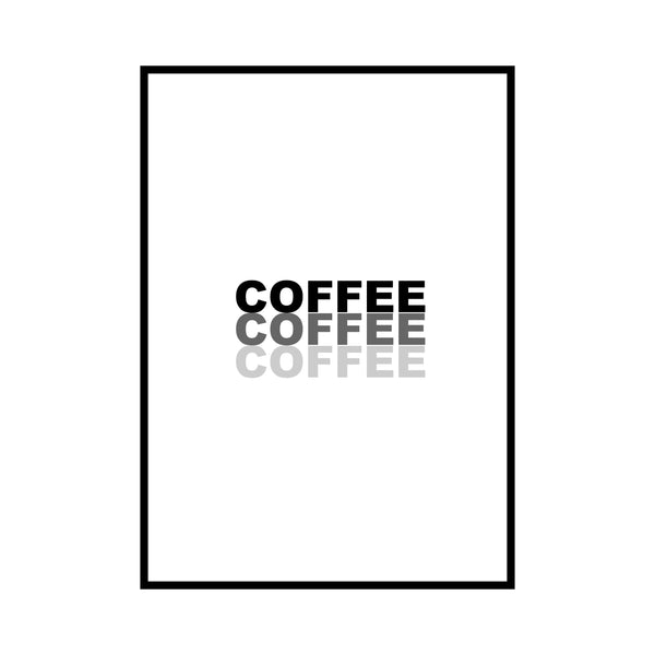 Coffee wall print by Love to Home