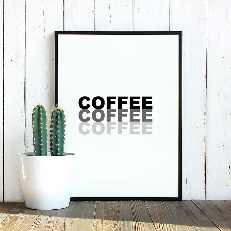 Coffee Print by Love to Home