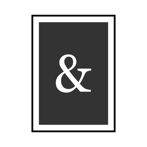 Ampersand Print by Love to Home