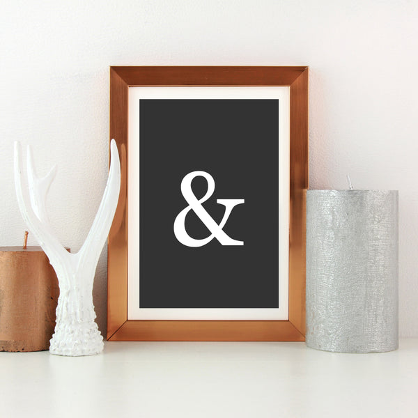 Ampersand Wall Print by Love to Home
