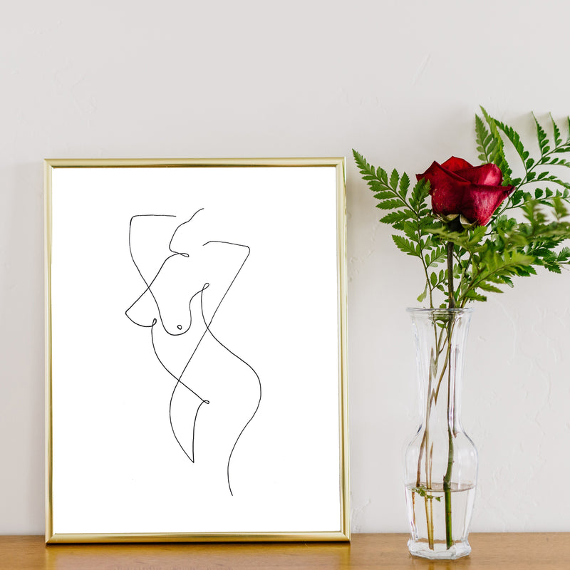 Black and White Naked Line Art by Love to Home