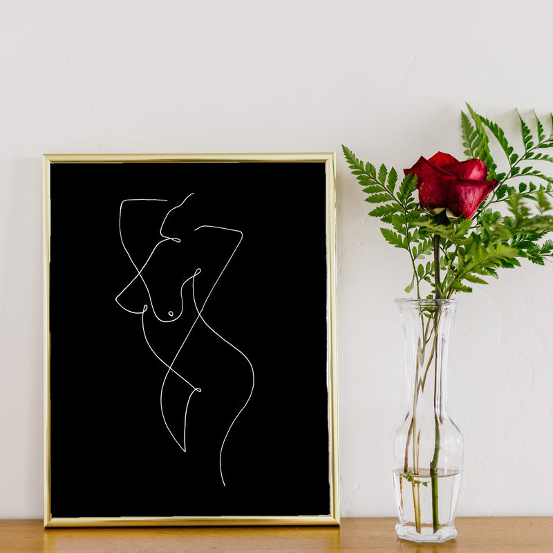 Female Body Line Art by Love to Home