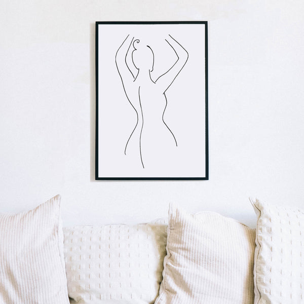 Naked Woman Line Art by Love to Home