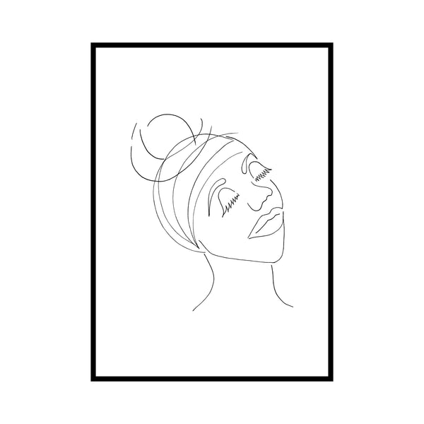 Line Art African Woman by Love to Home