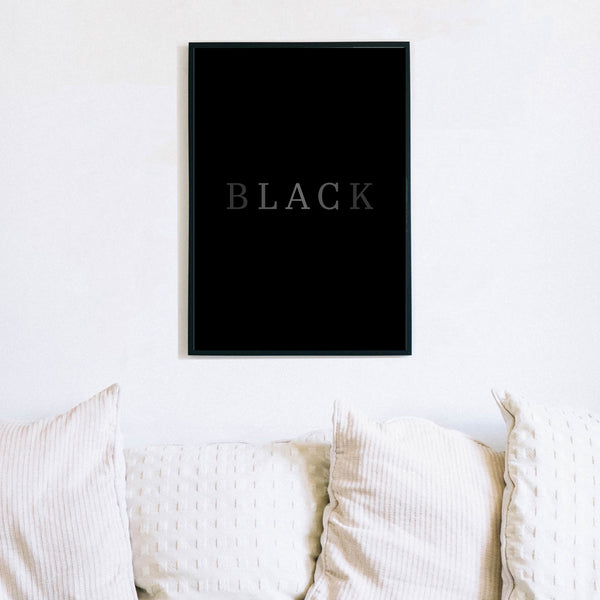 Black Text Print by Love to Home