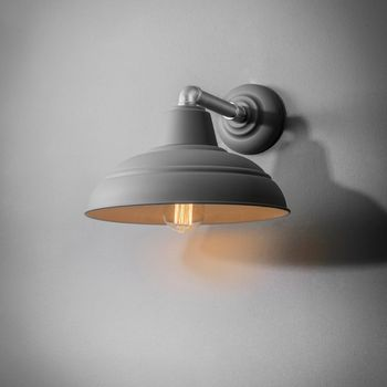 Charcoal Industrial Wall Light