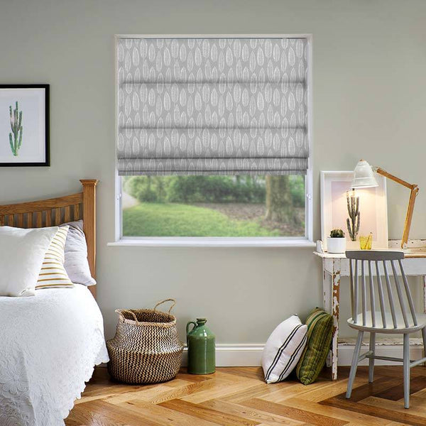 Quill Silver Roman Blind