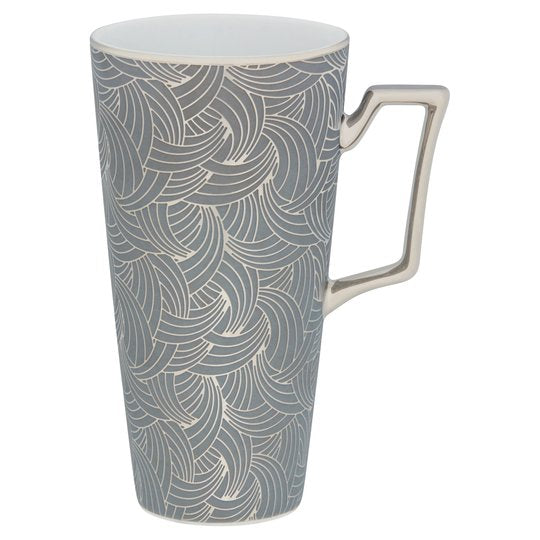 Fox & Ivy Grey Silver Swirl Latte Mug