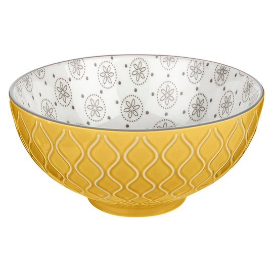 Kosmo Medium Bowl Yellow & Grey