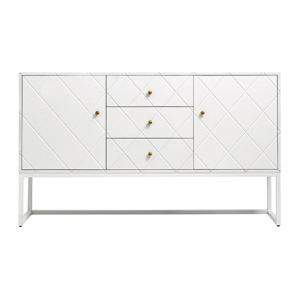 Nordal Squares Wooden Buffet Table - White