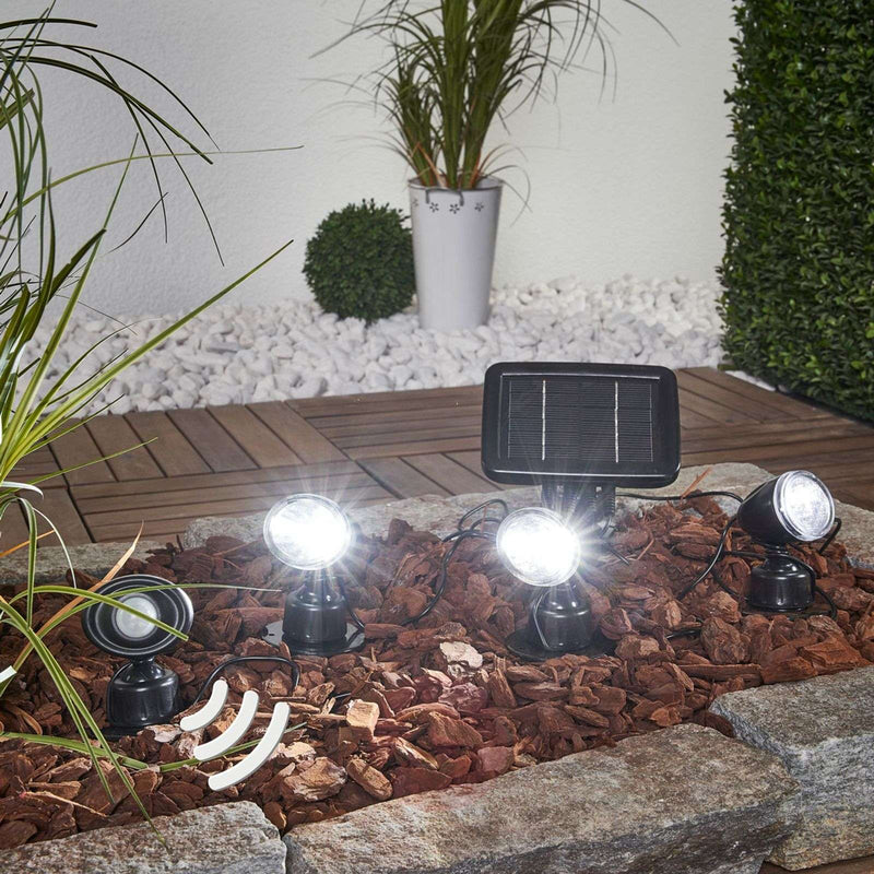 Trio PIR solar spotlight in 3-piece set