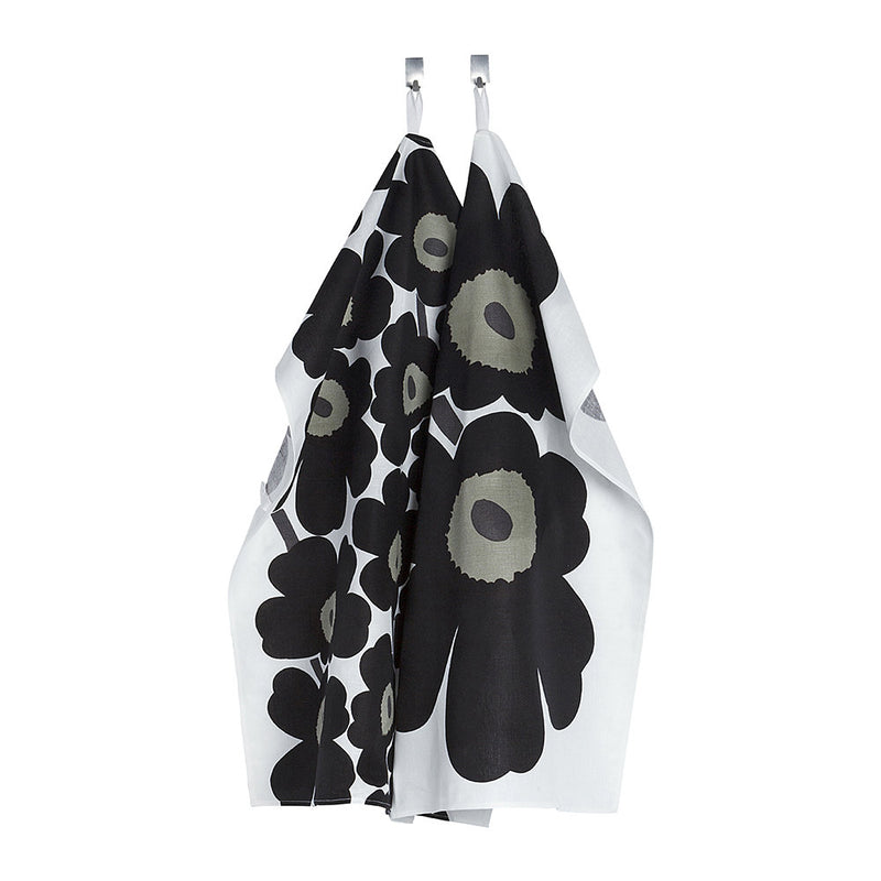 Marimekko Unikko Tea Towel - Pack of 2 - White/Black